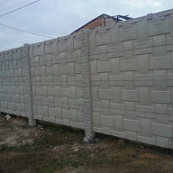 Fences made of concrete