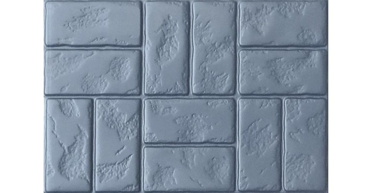 ABS mould (form) road tile #2 75х50x8 cm