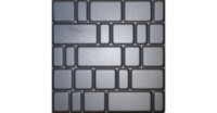 ABS mould (form) road tile #12 50х50x5 cm Old Town