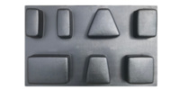 ABS mould (form) road tile Old Town - 7 pcs